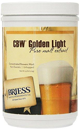 Briess CBW Golden Light Single Canister 3.3 lb (Liquid Malt Light Extract)