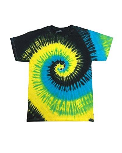 Colortone Adult Swirl Tie Dye Tee, Tropical Breeze, XXXX-...