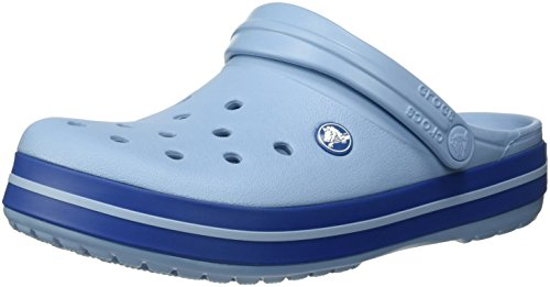 Crocs Unisex Crocband Clog, Chambray Blue/Blue Jean, 13 US Men / 15 US Women