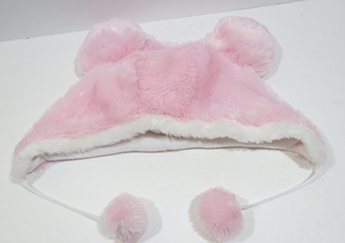 Price comparison product image Mickey Ears Plush Fuzzy Pink Hat Disney Parks