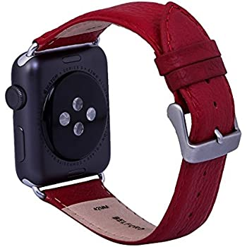 Amazon.com: BELFORD Leather Band Compatible 42 mm Italian