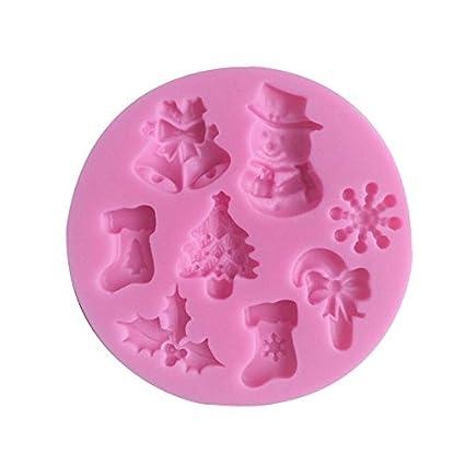 iTemer 1 pieza Moldes para Bizcochos Chocolate Jabones Reposteria Pastel Hornear Tartas Silicona Árbol de navidad