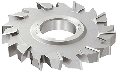 1-1//4 Arbor Hole TiN Coating Standard Cut HSS 1//4 Width 5 Cutting Diameter 24 Teeth KEO Milling 01392 Staggered Tooth Milling Cutter,S Style