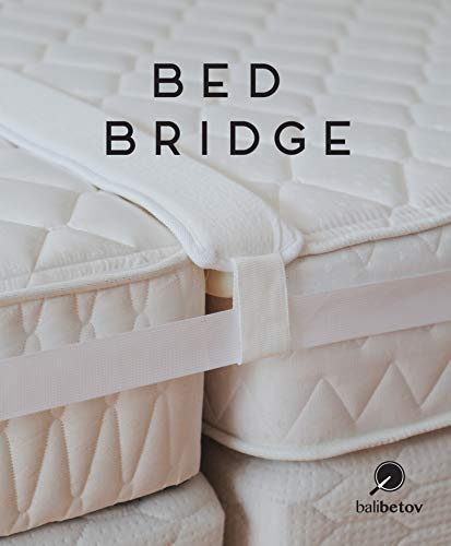BALIBETOV Twin Bed Connector kit - Bed Bridge - Convert Two Twin beds to a King Size Bed - Best Set for Mattress Extender - Includes one Bed Gap Filler + one Bed Strap