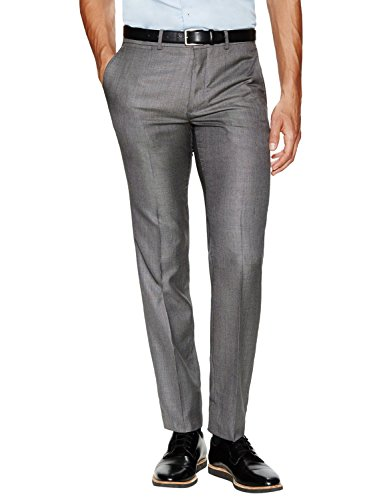 Front Flat Silk Pants (Theory Marlo Duffie Slim Fit Wool and Silk Flat Front Dress Pants Grey 40)