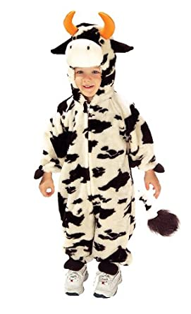 amazoncom lil moo cow deluxe plush toddler halloween costume size 2t 4t clothing - Halloween Costume Cow