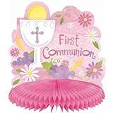 First Communion Pink Centerpiece 9.5