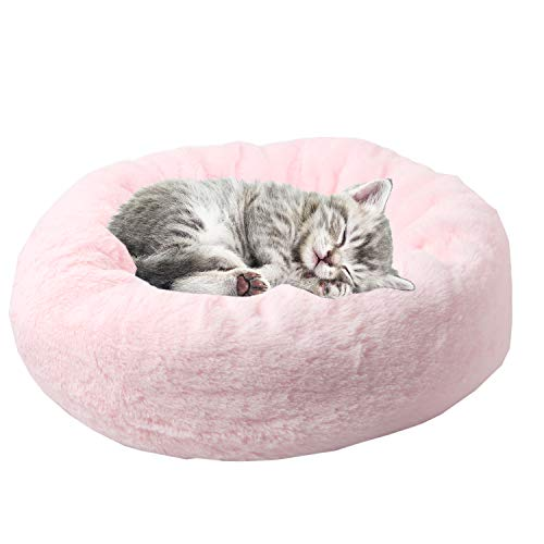Cheap ShangjingMeixie Medium Plush Pet Cushion Crate Cuddle Bed for Dogs Cats Machine Washable Indoor Outdoor with Removable Insert Pillow