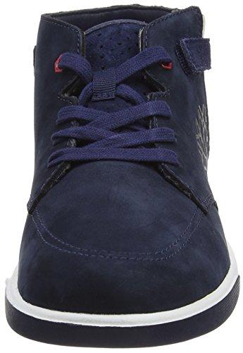 Timberland Groveton Chukka With - Zapatillas de deporte Unisex Niños Azul - Bleu (Black Iris)