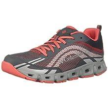 Columbia Drainmaker™ IV, Zapatillas para Mujer, Rojo (Graphite, Red Coral), 42 EU