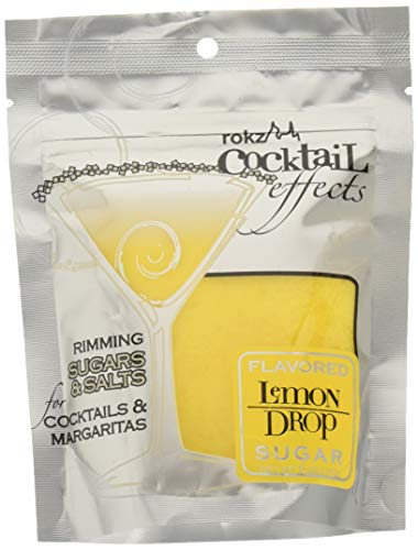 Rokz Design Group Cocktail Sugar, Lemon Drop, 5 Ounce