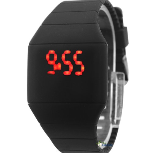 Touch Screen Led Watch Cheap Price Ultra-thin Plastic Candy Color Black Color