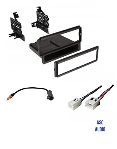 (Premium ASC Car Stereo Dash Install Kit, Wire Harness, and Antenna Adapter for Installing a Single Din Aftermarket Radio for select Nissan Vehicles - Compatible Vehicles Listed Below)