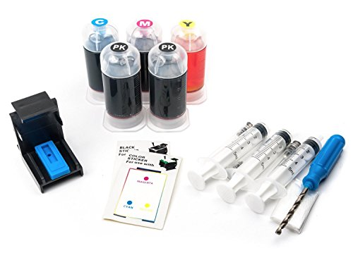 (InkPro Black & Tri-Color Ink Refill Box Kit for Canon PG-245/CL-246, PG-245XL/CL-246XL Cartridges)