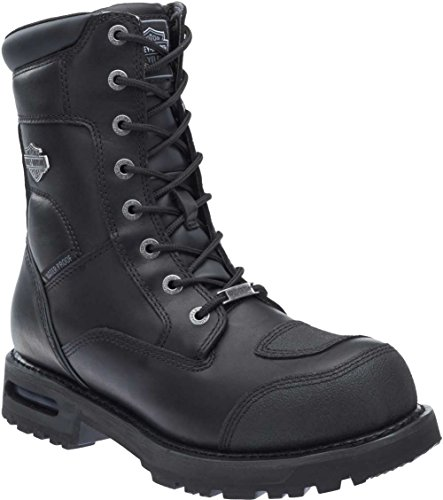 Wolverine Motorcycle Boots - Harley-Davidson Men's Richfield Performance Motorcycle Boots D96121 (Black, 10)