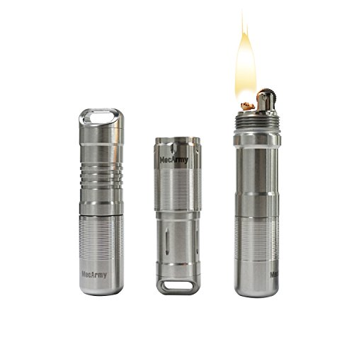 MecArmy X7S Multifunctional Flashlight+Capsule+Lighter EDC kit, DIY Choice Of 8 EDC Combi Customised, Micro USB Rechargeable Penlight+Pill Box Battery Capsule+Lighters All-in-one Kit (Polished) (Flashlight Multifunctional)