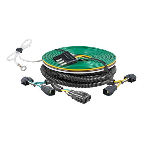 (CURT 58902 Custom Towed-Vehicle RV Wiring Harness for Dinghy Towing Select Jeep Wrangler)
