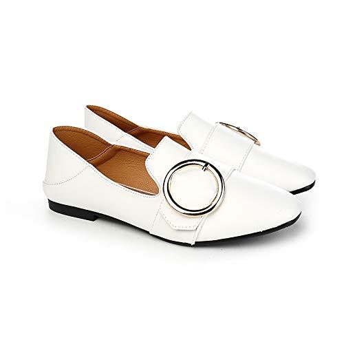 Primavera y Zapatillas cómodas Planas B de Mujer Flyrx Trabajo y Blancas de para otoño 4YAnR4x1p