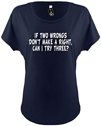 Signature Depot Womens Funny Dolman T-Shirt Ladies Size 2X (IF Two Wrongs Don't Make A Right)
