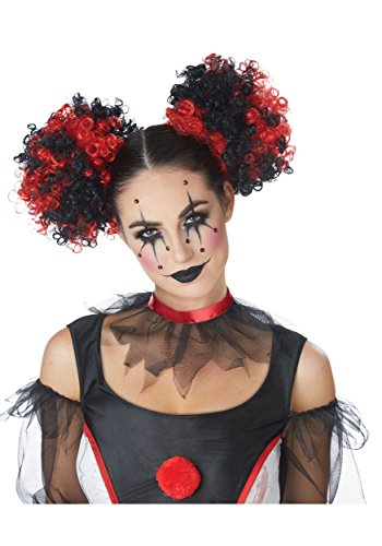 California Costumes Women's Clown Puffs, RED/Black One Size
