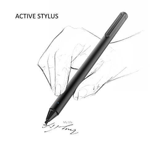 FENTAC Active Stylus Pen 2.4 mm Fine Point Fiber Tip for Touch Screen Devices(Black) by Fentac (Image #7)