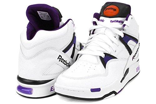 Reebok Men's Pump Omni Zone Basketball Shoe White/Purple 10