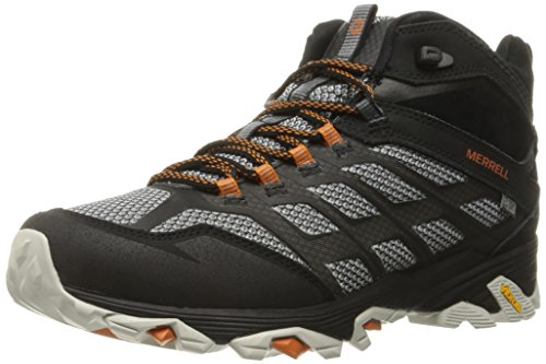 Merrell Men's Moab FST Mid Waterproof Hiking Shoe, Black, 8.5 W