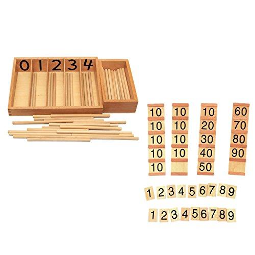 Madera Número Tarjeta Magideal Contando Caja Y De cFulJ35T1K