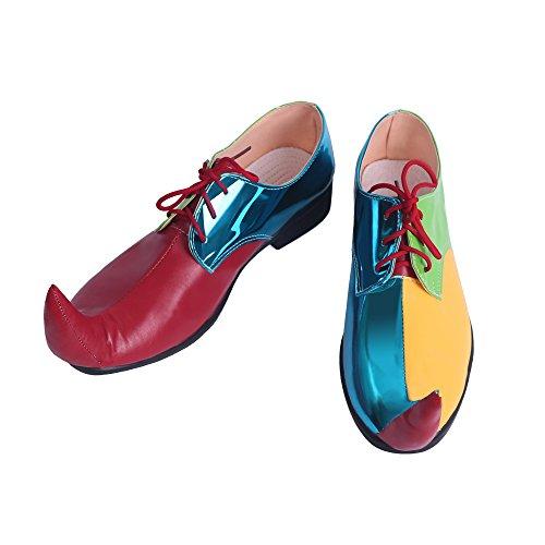 ピエロ靴 風 コスプレ靴/ブーツ コスプレ衣装 (26cm  赤、青色)