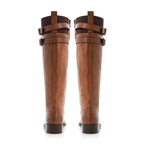 Dune London Tirrent Tan Leather Boots BNIB UK7 D86Zx7