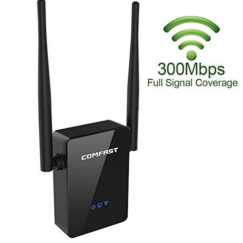 ((New Version) COMFAST WiFi Range Extender - 300Mbps Wireless Router Range Extedder with 360 Degree Dual Antenna WiFi Repeater.)