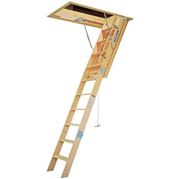 Werner Wh2208 8 Wooden Attic Ladder Extension Ladders