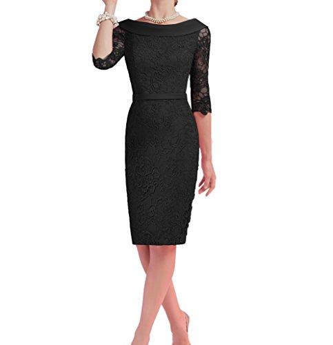 Abendkleider Langarm Charmant Promkleider Damen mit Spitze Schwarz Etuikleider Wassermelon Festlichkleider t884xw6qB