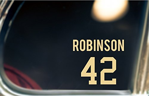 Jackie Robinson Decal/Sticker For Car Window, Bumper, or Laptop.