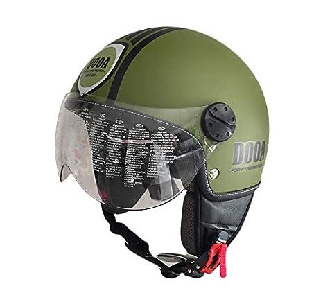 Amazon.es: DOOA Casco Demi Jet cs16d verde militar Dark ...