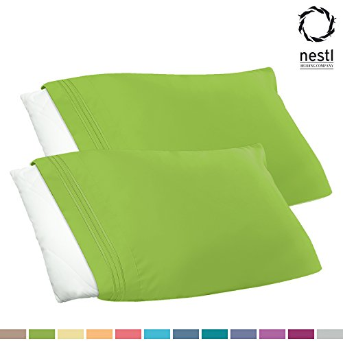 Big Save! Nestl Bedding Premier 1800 Pillowcase - 100% Luxury Soft Microfiber Pillow Case Sleep Cove...