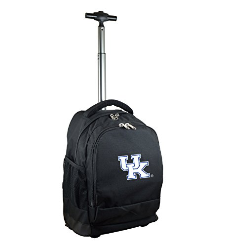 Denco NCAA Kentucky Wildcats Expedition Wheeled Backpack, 19-inches, Black (Kentucky Ncaa Wildcats Laptop Bag)