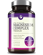 High Absorption Magnesium Complex 500mg   Mag Supplement Formulated for Muscle Relaxation & Recovery Non GMO Pure 60 Vegetable Capsules