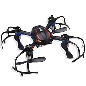 MJX X902 - Mini Quadcopter RC Drone (2.4G, 4CH 6Axis Gyro, 3D Rolls, Led, Modo sin Cabbeza, Multi-funciones, Batería Recargable), Negro