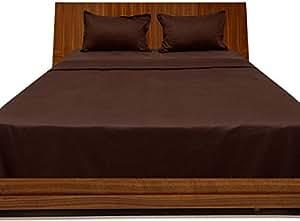 Brightlinen Chocolate King (150 X 200 Cm) Sheet Set Solid(pocket Size: 38 Cm) 4pcs
