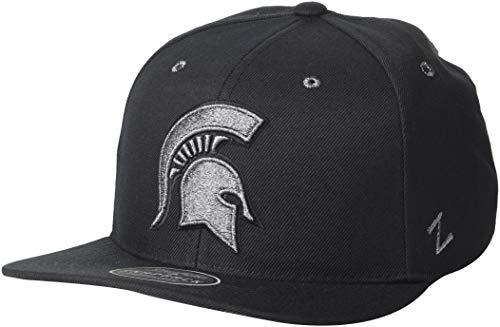 State Spartans Men's Z11 Ebony Snapback Cap, Adjustable, Black ()