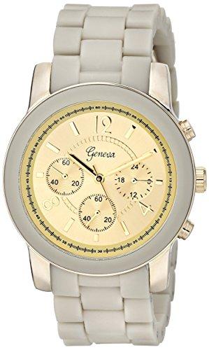 Platinum Geneva Link Womens - Geneva Women's 2412B-GEN Grey Watch with Link Bracelet