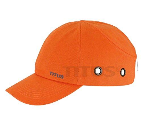 TITUS Lightweight Safety Bump Cap - Baseball Style Protective Hat (Regular, Orange) ()