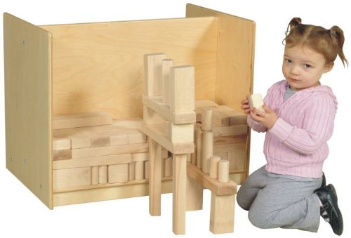 Childs Play Wood Center Divide Block Storage Cart, 30'' Width x 24'' Height x 16'' Depth by Childs Play