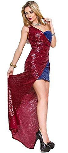40 vestito 46 BAZAR sera donna spacco IL 44 paillettes abito lungo taglie 42 laterale fBqgxvw6