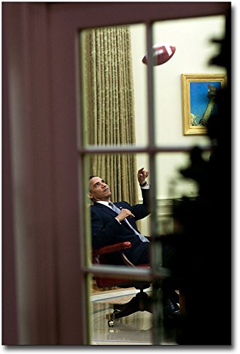 President Obama Throws Football in Oval Office 30x45 Silver Halide Photo -