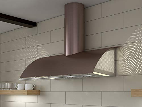 Zephyr COK-E42BXLE 42 Inch Wide Cheng Wall Mount Range Hood with LED Lighting an, Rose Gold ()