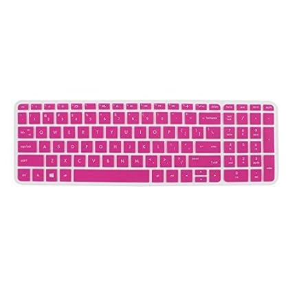 DealMux teclado protector de la piel cubierta de la película fucsia para HP Pabellón 15 del