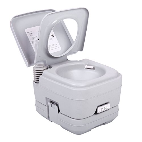 JAXPETY 2.8 Gallon 10L Flush Porta Potti Outdoor Indoor Travel Camping Portable Toilet for Car, Boat, Caravan, Campsite, Hospital - 2.8 Holding Gallon Tank