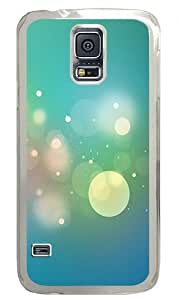 Beautiful White Circle And Light Green Background Custom Samsung Galaxy S5 Case Back Cover, Snap-on Shell Case Polycarbonate PC Plastic Hard Case Transparent hjbrhga1544